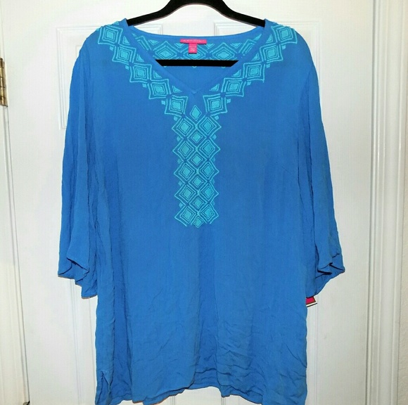 9b05fad8417 Lilly Pulitzer for Target Tops | Lilly Pulitzer Nwt Bluebell Gauze ...